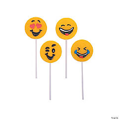 Emoji Frosted Lollipops