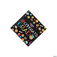 Emoji Graduation Party Beverage Napkins