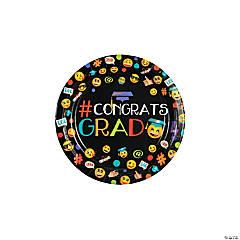 Emoji Graduation Party Paper Dessert Plates