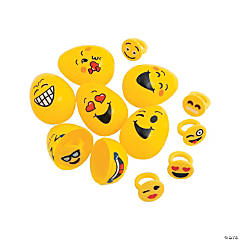 Emoji Ring-Filled Easter Eggs - 12 Pc.