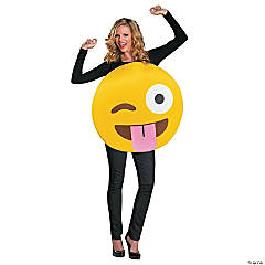 Emoticon Tongue Costume for Adults