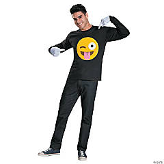 Emoticon Tongue Costume Kit for  Adults