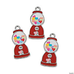 Enamel Heart Gumball Machine Charms