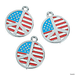 Enamel Peace Flag Charms