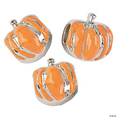 Enamel Pumpkin Large Hole Beads