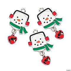 Enamel Snowman Charms