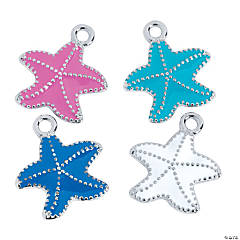Enamel Starfish Charms