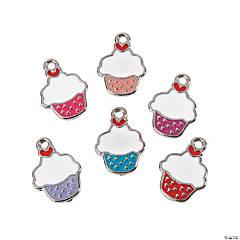 Enamel Valentine Cupcake Charms