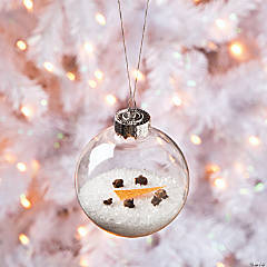 Epsom Salt Melted DIY Snowman Ornament Idea