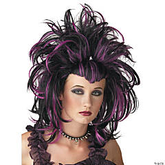 Evil Sorceress Black & Purple Wig