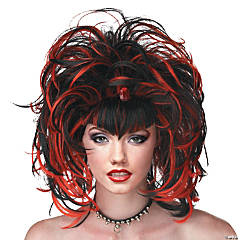 Evil Sorceress Black & Red Wig