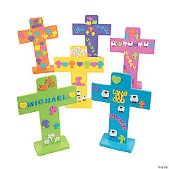 Exciting Easter Crosses with Stickers