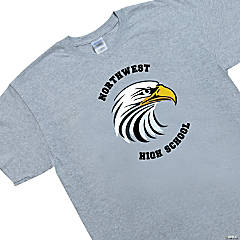 Extra Large Gray Custom Photo Team Spirit Shirt - Arched Lettering