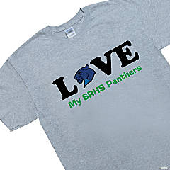 Extra Large Gray Team Spirit Shirt - LOVE