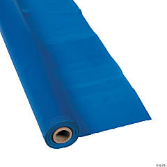 Extra Long Blue Plastic Tablecloth Roll
