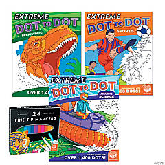 Extreme Dot to Dot: Amazing Action Set of 3 with FREE MARKERS