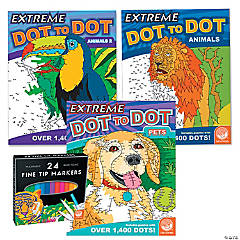 Extreme Dot to Dot: Animal Favorites Set of 3 with FREE MARKERS