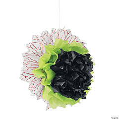 Eyeball Hanging Tissue Paper Pom-Poms Decorations Halloween Décor