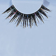 Eyelashes Black Glitter with Tinsel