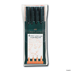 Faber-Castell Pitt Artist Pen Wallet Set of 4 Sanguine