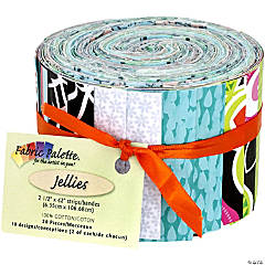 Fabric Jellies  20/Pkg-Peralta Multi