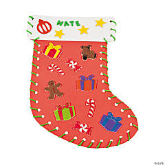 Fabulous Foam Lacing Christmas Stockings