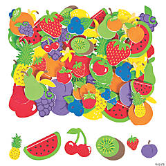 500 Fabulous Foam Self-Adhesive Fruit Shapes