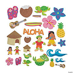 500 Fabulous Foam Self-Adhesive Luau Shapes