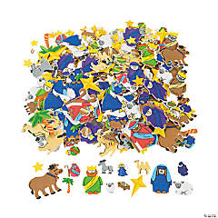 Fabulous Foam Self-Adhesive Nativity Shapes