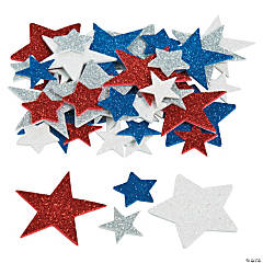 Fabulous Foam Star Glitter Shapes
