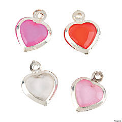 Faceted Heart Charms