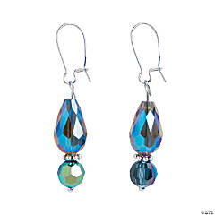 Faceted Teardrop Earrings Craft Kit