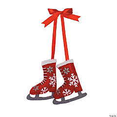 Fair Isle Ice Skate Christmas Ornaments