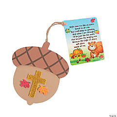 Faith Acorn Ornaments with Card Craft Kit