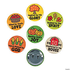 Faith Fall Market Mini Buttons