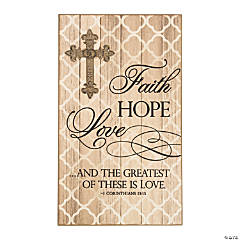 Faith, Hope, Love Wall Plaque