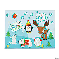 Faith Nordic Noel Animals Sticker Scenes