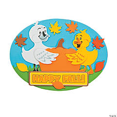 Fall Birds Pumpkin Magnet Craft Kit
