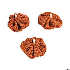 Fall Burlap Pumpkins