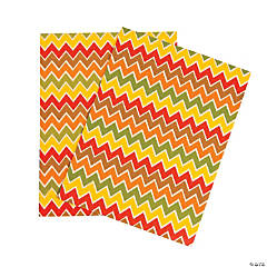 Fall Chevron Adhesive Sheets