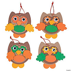 Fall Color Owl Ornament Craft Kit