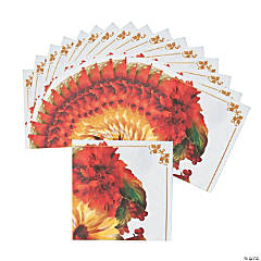 Fall Floral Beverage Napkins