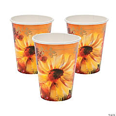 Fall Floral Cups