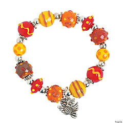 Fall Lampwork Bead Bracelet Idea