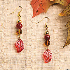 Fall Leaf Earring Idea