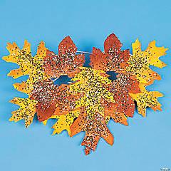 Fall Leaves Mask Idea