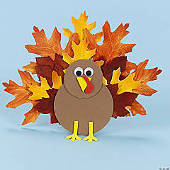 Fall Leaves Thanksgiving Turkey Idea