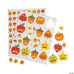 Fall Mustache Self-Adhesive Shapes