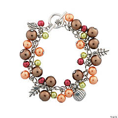 Fall Pearl Charm Bracelet Craft Kit