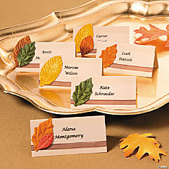 Fall Place Cards Idea